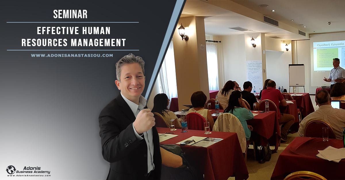 Seminar Effective Human Resource Management