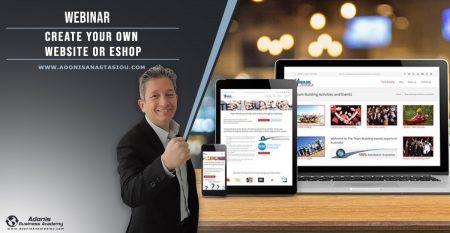Webinar Create Your Own Website or Eshop - Cyprus